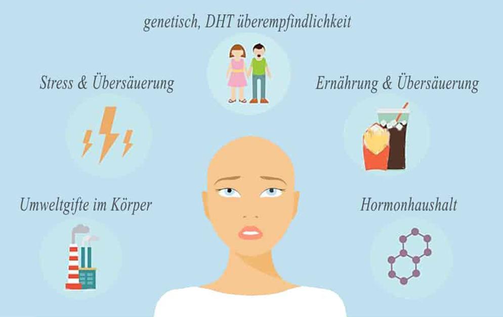 Faktoren, die den Haarausfall und die Kahlheit bei gesunden Männern beeinflussen